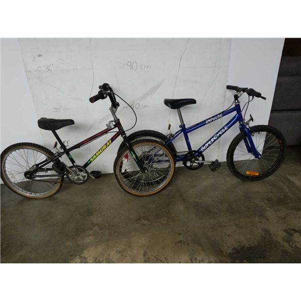 BLUE AND BLACK YOUTH BIKES - SUPERCYCLE AND SAMURAI