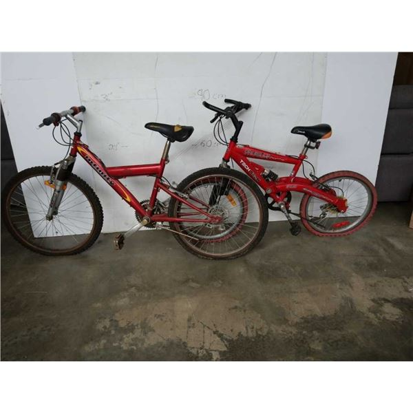 INFINITY AND TECH TEAM RED YOUTH BIKES