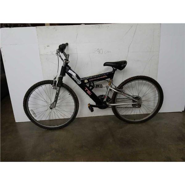 Black TSI commando bike