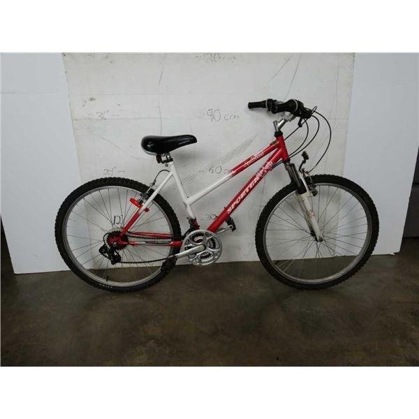 Red/white sporter spellbound bike