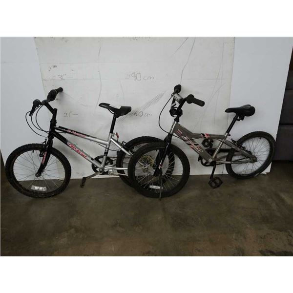 Black arashi and grey diamondback bikes