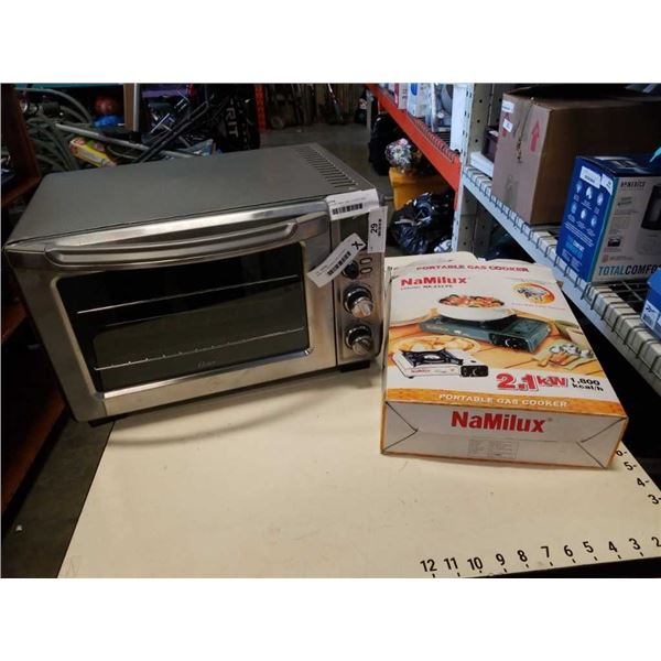 NAMILUX PORTABLE GAS COOKER AND OSTER TOASTER OVEN