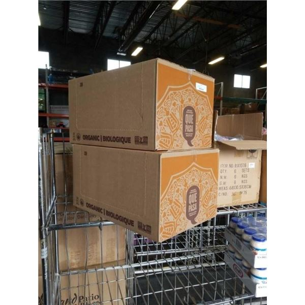 2 cases of que pasa salted tortilla chips