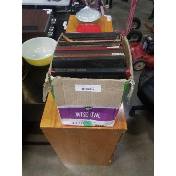 BOX OF 10 INCH SHELLAC RECORDS