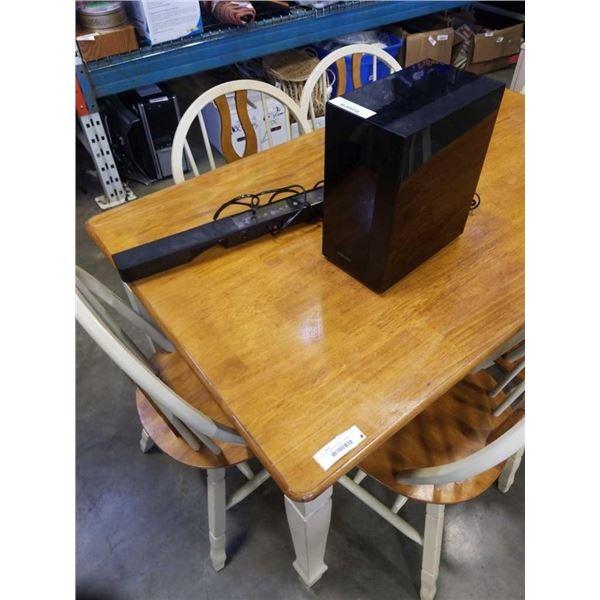 Phillips sound bar and Samsung sub