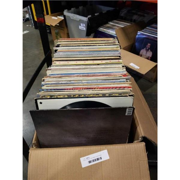 Box of records: Led Zeppelin, David Bowie, AC/DC and others
