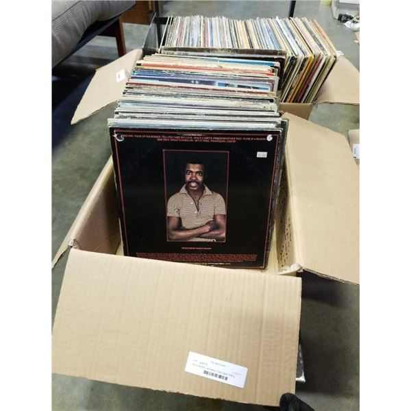 Box of records: Led zeppelin, Frank Zappa, Rolling Stones, AC/DC and others