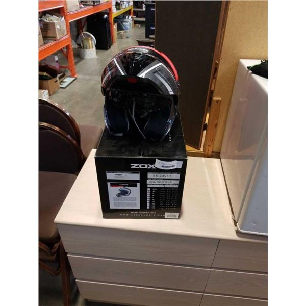 NEW ZOX MOTORCYCLE HELMET - FLIP UP WITH SOLAR VISOR SYSTEM SIZE XS