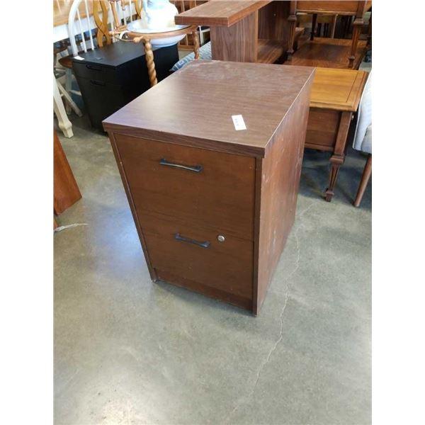 2 drawer wood filing cabinet