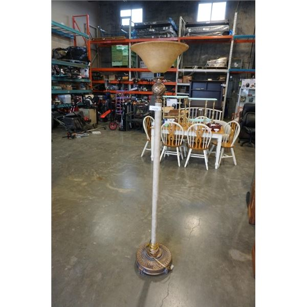 DECORATIVE FLOOR LAMP WITH GLASS SHADE
