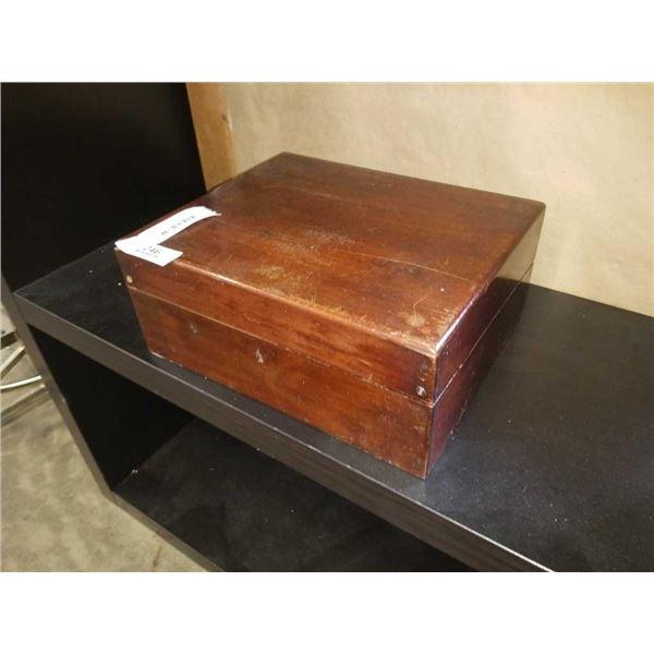 Antique lap desk - as found