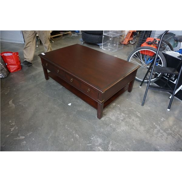 LARGE 2 DRAWER COFFEE TABLE