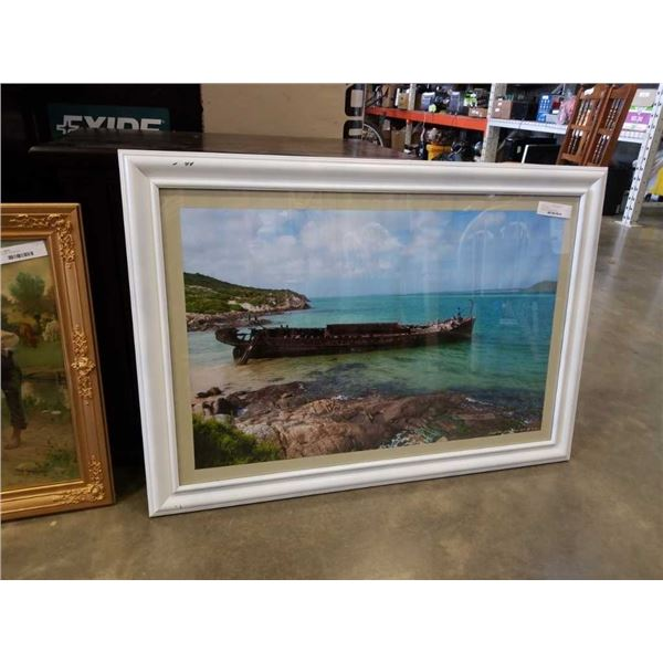 South african seascape print signed