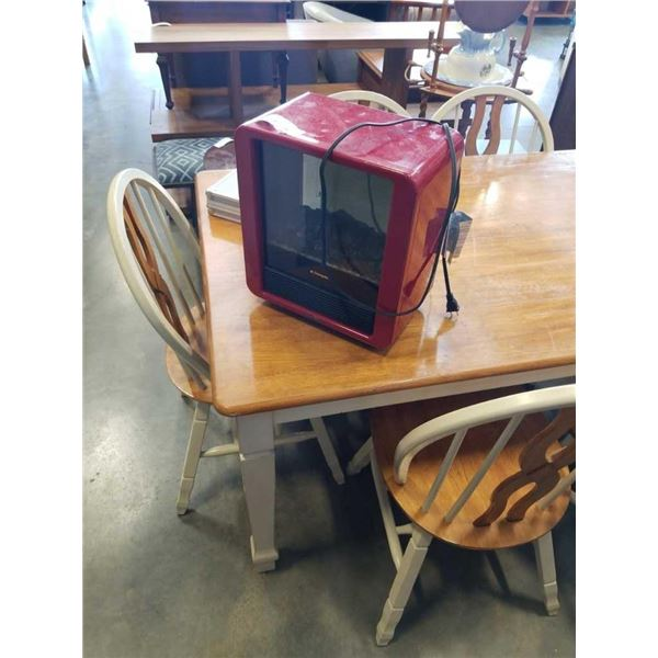 SMALL RED ELECTRIC FIREPLACE
