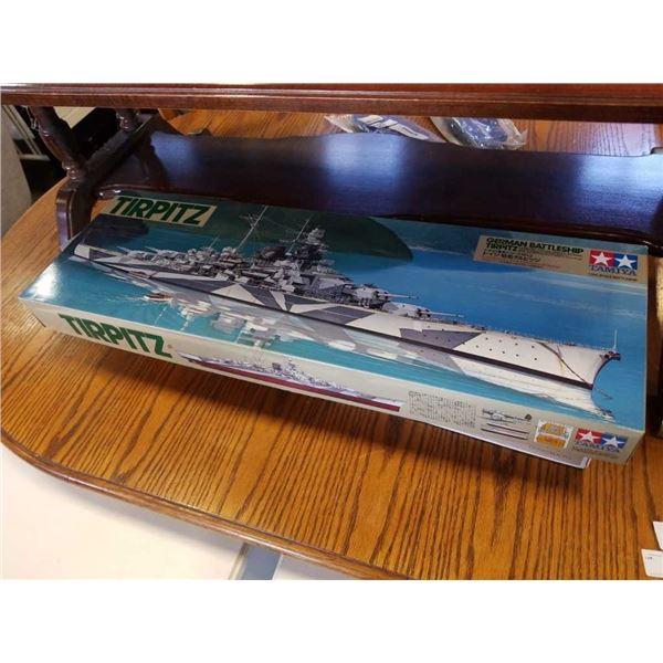 Tamiya tirpitz german battleship as new
