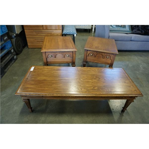 COFFEE TABLE AND 2 KROEHLER ENDTABLES