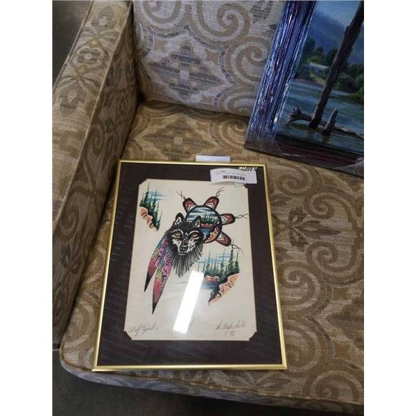 SIGNED ORIGINAL FIRST NATIONS ART