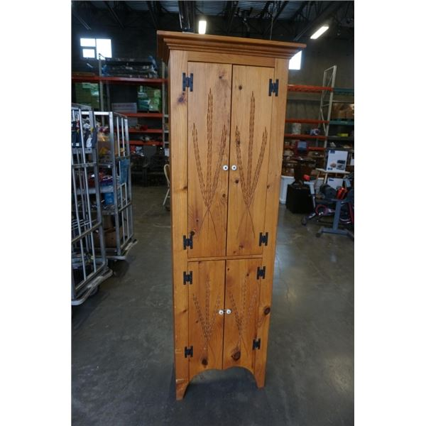 Borkholder amish crafted 2 cupboard wall unit - 76.5 inches tall, 26 inches wide, 14 inches deep