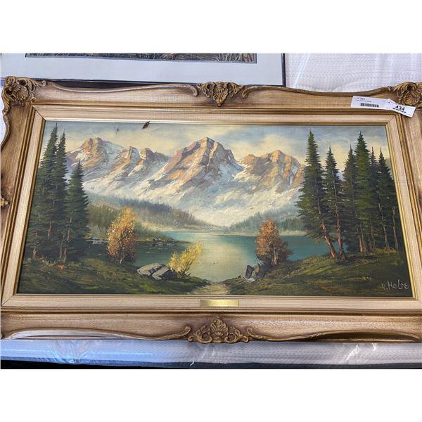 C Van Holst oil on canvas