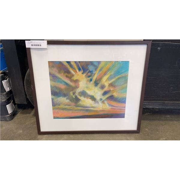"""FRAMED AND SIGNED """"SPIRIT HORSE EXPERIENCING TRANSCENDENCE"""" BY DIERDRE MCCAY"""