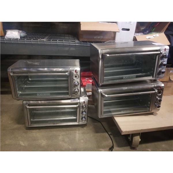 4 Black and Decker large capacity air fry convection oven - store returns
