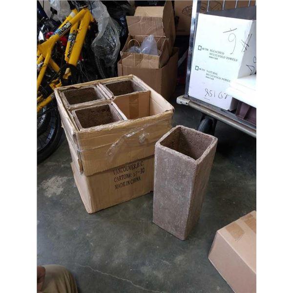 4 concrete 18in planters