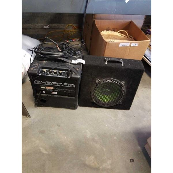 YORKVILLE SOUND BLOC40B AMP AND OTHER SPEAKER