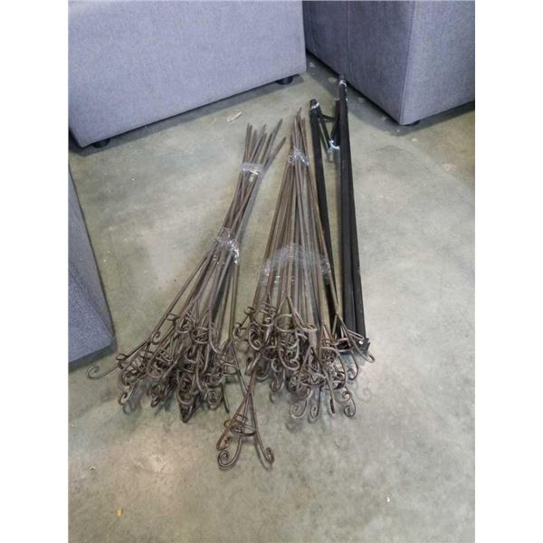 Decorative metal stake lawn candle stands and tripod