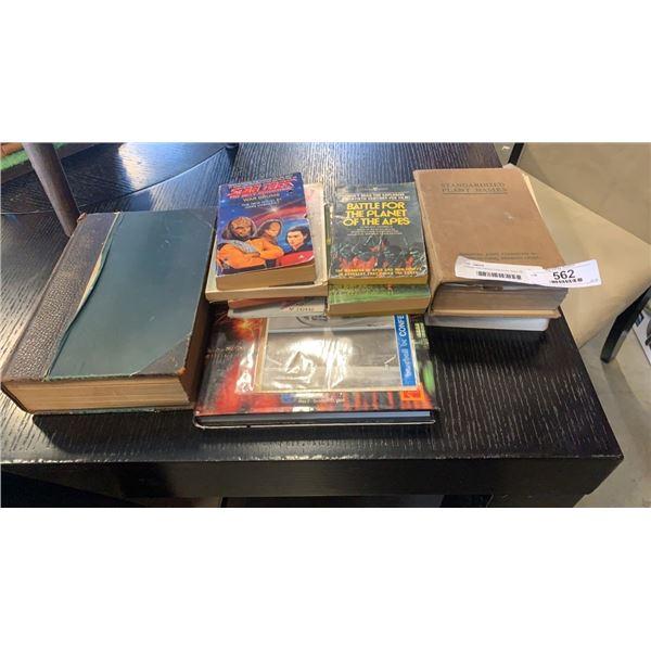 Vintage new century hardcovers, Expo '86 hardcover, memorabilia and scifi books