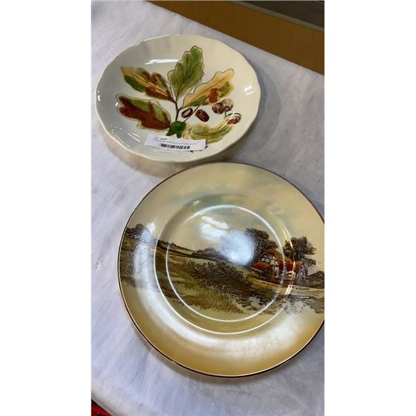Royal doulton and clarance cliff hand painted plates