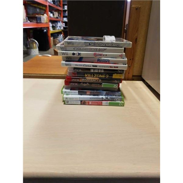 LOT OF VIDEOGAMES - WII, PS3 AND XBOX 360