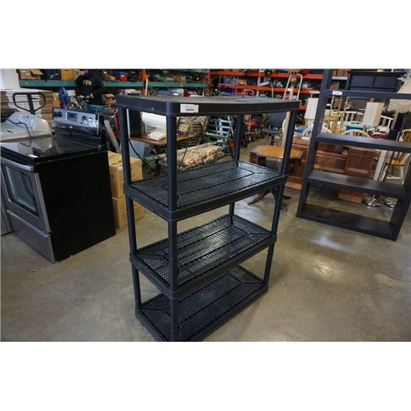 4 TIER BLACK PLASTIC SHELF