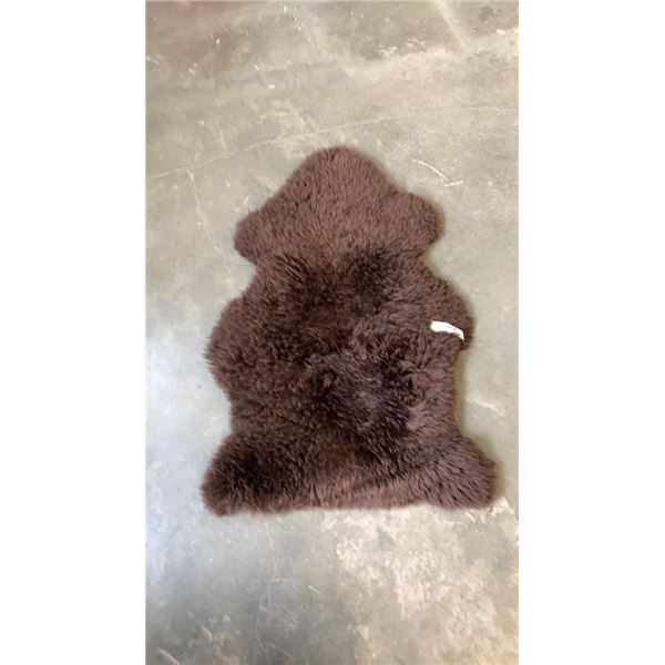 BROWN SHEEP SKIN RUG