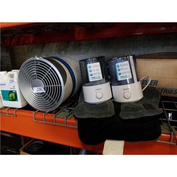 Homedics humidifiers and shoulder massager - store returns