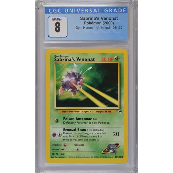 POKEMON 2000 unlimited Sabrina's Venonat NM/M 8 CGC