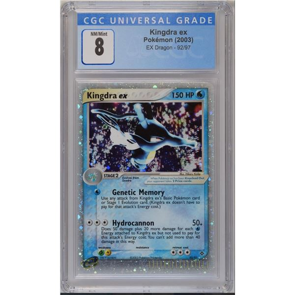 POKEMON 2003 Ex dragon Kingdra ex holo NM/M 8 CGC