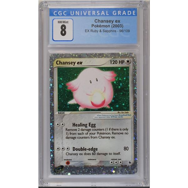POKEMON 2003 Chansey ex holo NM/M 8 CGC