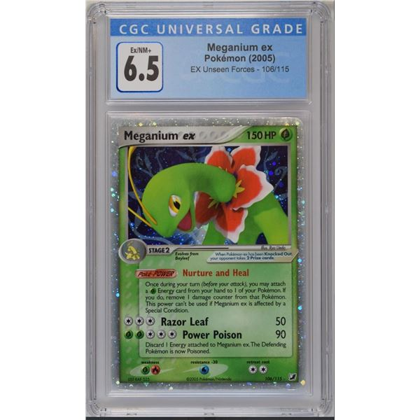 POKEMON 2005 Meganium ex unseen forces holo 6.5 CGC