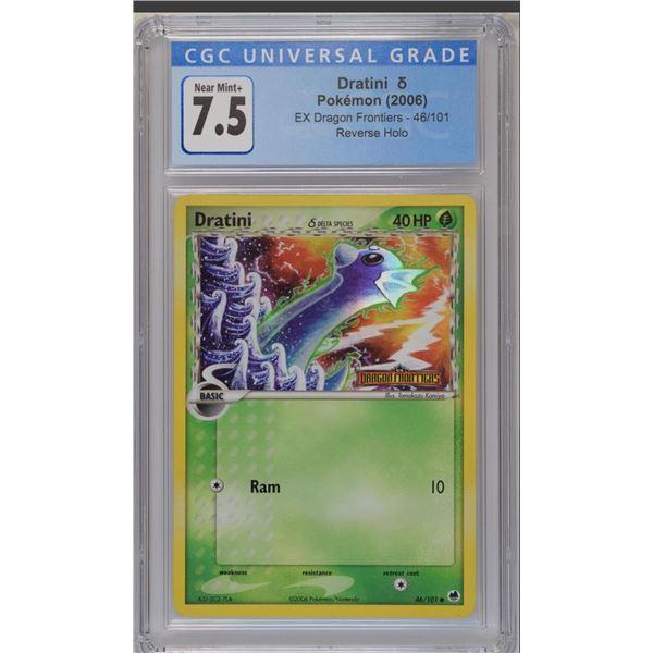 POKEMON 2006 Dratini 46/101 Dragon frontiers reverse holo NM+ 7.5 CGC