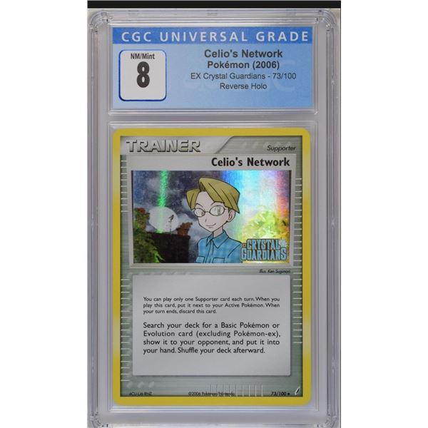 POKEMON 2006 Trainer Celio's Network Crystal guardians reverse holo NM/M 8 CGC