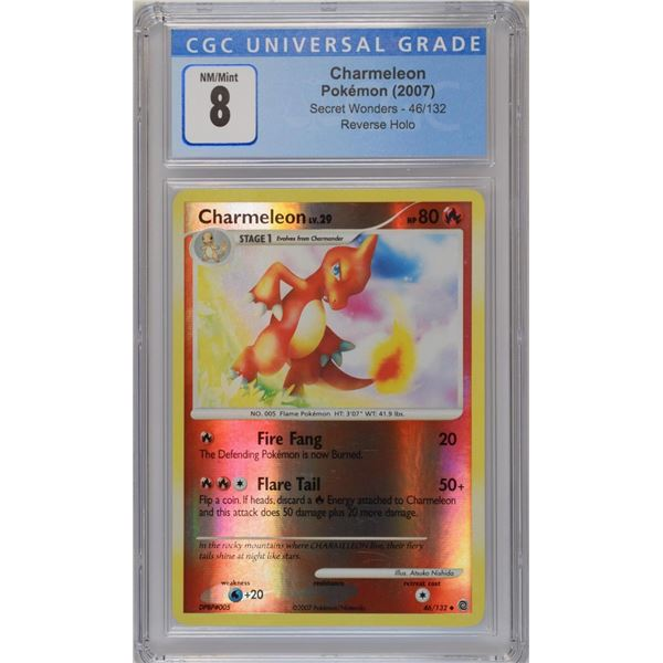 POKEMON 2007 Charmeleon Secret wonders reverse holo NM/M 8 CGC
