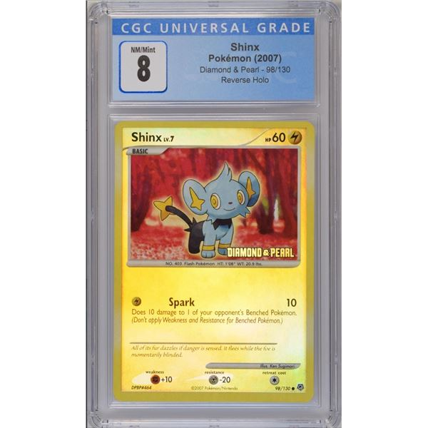 POKEMON 2007 Shinx DIAMOND AND PEARL reverse holo NM/M 8 CGC