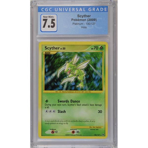 POKEMON 2009 Scyther Platinum holo NM+ 7.5 CGC