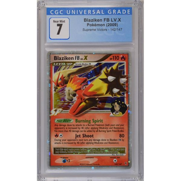 POKEMON 2009 Blaziken LV. X holo NM 7 CGC