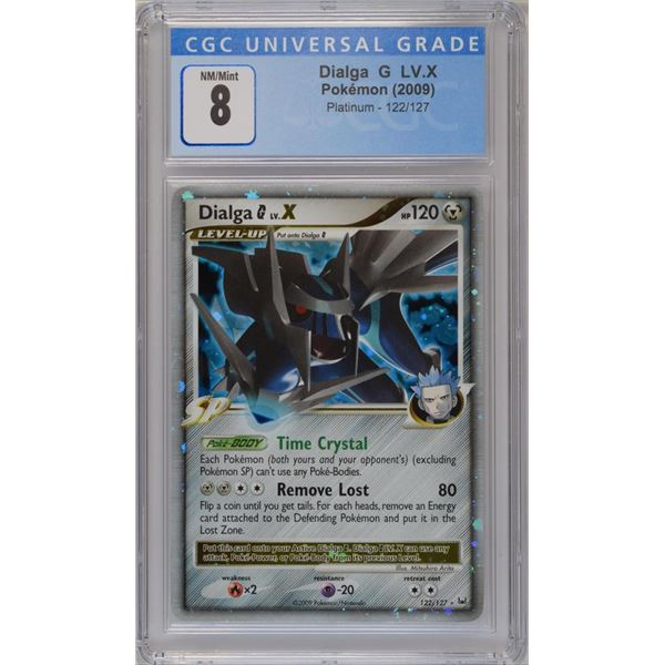 POKEMON 2010 Dialga LV. X  World championships  NM 7 CGC