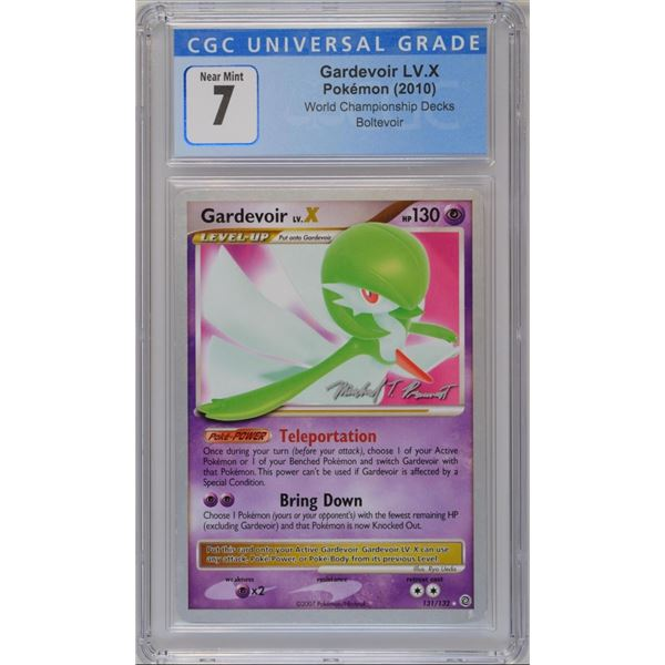 POKEMON 2010 Gardevoir LV. X World championships NM 7 CGC