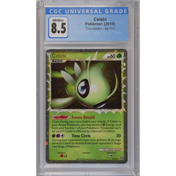 POKEMON  2010 Celebi Triumphant holo NM/M+ 8.5 CGC
