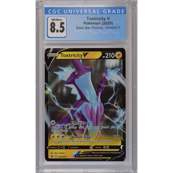 POKEMON 2020 Toxtricity V Black star promo holo NM/M+ 8.5 CGC