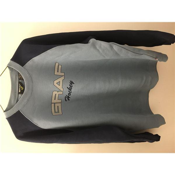 New graff sweater blue sz.med