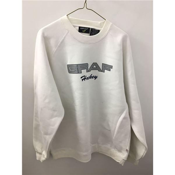 New graff sweater white sz.lg